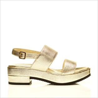 360 Product Photography | Cecilia Quinn Gold Sandal