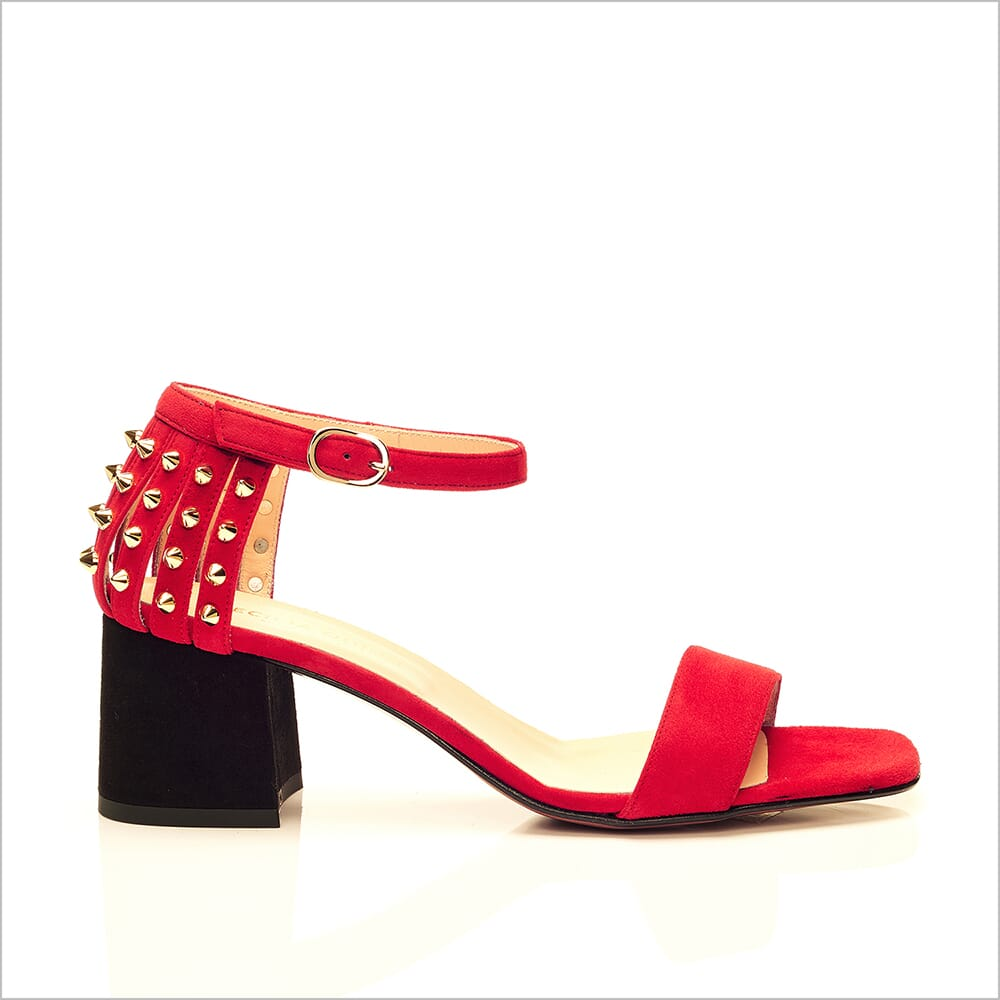 360 Product Photography | Cecilia Quinn Red Studded Heel