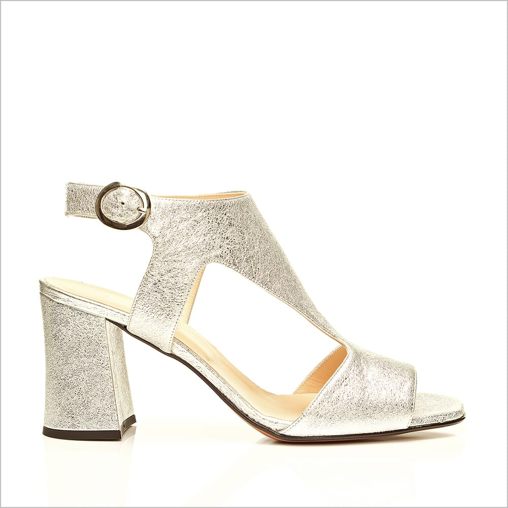 360 Product Photography | Cecilia Quinn Silver High Heel