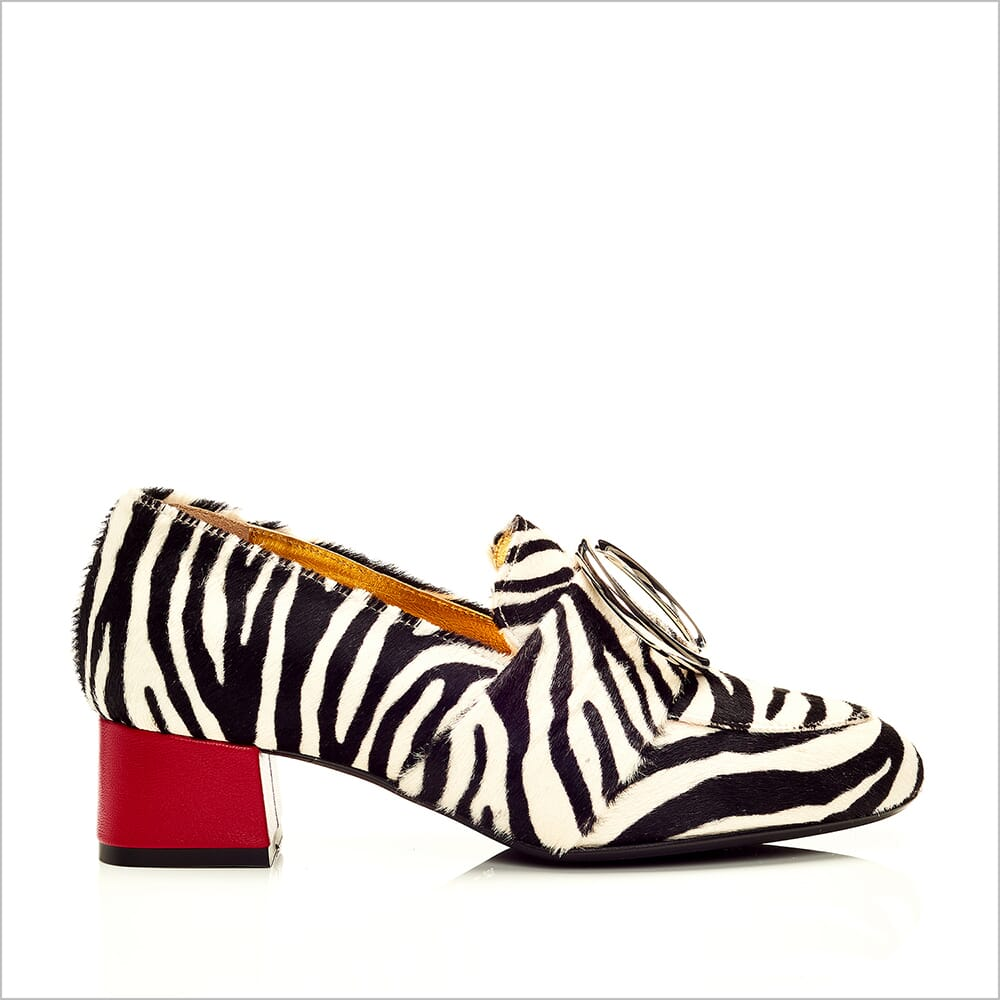360 Product Photography | Cecilia Quinn Zebra Shoe