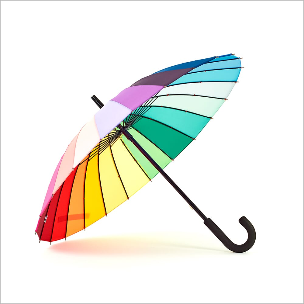360 Product Photography for Accessories   360 Spins   Umbrella   Rainbow